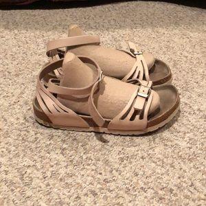 Birkenstock Blush Pink Bali Ankle strap sandals 7